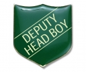 Shield Badge 'DEPUTY HEAD BOY' Green (Pk. 5)