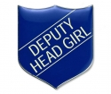 Shield Badge 'DEPUTY HEAD GIRL' Blue (Pk. 5)
