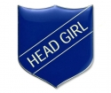 Shield Badge 'HEAD GIRL' Blue (Pk. 5)