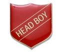 Shield Badge 'HEAD BOY' Red (Pk. 5)