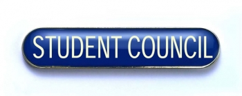 Tube Badge 'STUDENT COUNCIL' Blue (Pk. 5)
