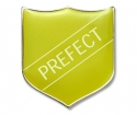 Shield Badge 'PREFECT' Yellow(Pk. 5)