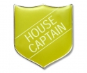 Shield Badge 'HOUSE CAPTAIN' Yellow (Pk. 5)