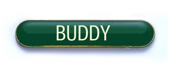 Tube Badge 'BUDDY' Green (Pk. 5)