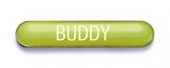 Tube Badge 'BUDDY' Yellow (Pk. 5)
