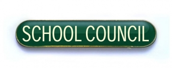 Tube Badge 'SCHOOL COUNCIL' Green (Pk. 5)
