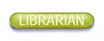 Tube Badge 'LIBRARIAN' Yellow (Pk. 5)