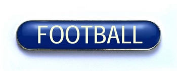 Tube Badge 'FOOTBALL' Blue (Pk.5)