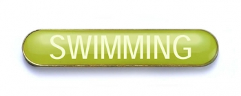 Tube Badge 'SWIMMING' Yellow (Pk. 5)