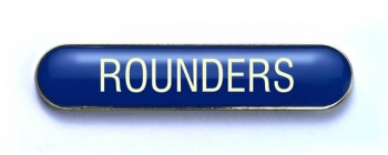 Tube Badge 'ROUNDERS' Blue (Pk. 5)