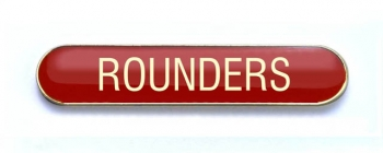 Tube Badge 'ROUNDERS' Red (Pk. 5)