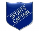 Shield Badge 'SPORTS CAPTAIN' Blue (Pk. 5)