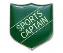 Shield Badge 'SPORTS CAPTAIN' Green (Pk. 5)