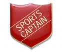 Shield Badge 'SPORTS CAPTAIN' Red (Pk. 5)