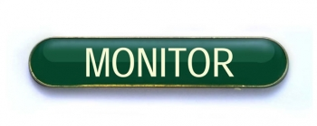 Tube Badge 'MONITOR' Green (Pk. 5)
