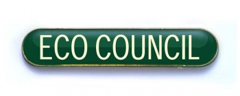 Tube Badge 'ECO COUNCIL' Green (Pk. 5)