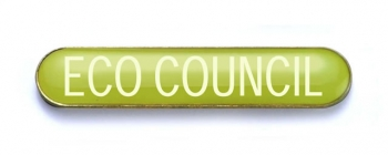 Tube Badge 'ECO COUNCIL' Yellow (Pk. 5)