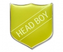 Shield Badge 'HEAD BOY' Yellow (Pk. 5)