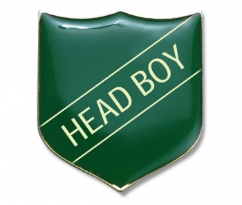 Shield Badge 'HEAD BOY' Green (Pk. 5)