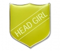 Shield Badge 'HEAD GIRL' Yellow (Pk. 5)