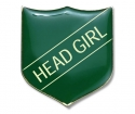 Shield Badge 'HEAD GIRL' Green (Pk. 5)