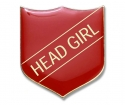 Shield Badge 'HEAD GIRL' Red (Pk. 5)