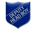 Shield Badge 'DEPUTY HEAD BOY' Blue (Pk. 5)