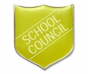 Shield Badges 'SCHOOL COUNCIL' Yellow (Pk. 5)