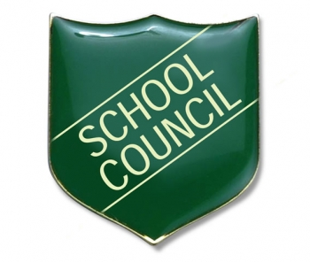 Shield Badges 'SCHOOL COUNCIL' Green (Pk. 5)