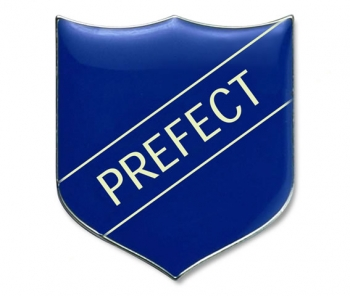 Shield Badge 'PREFECT' Blue (Pk. 5)
