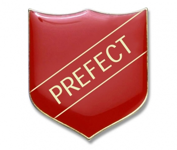Shield Badge 'PREFECT' Red (Pk. 5)