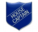 Shield Badge 'HOUSE CAPTAIN' Blue (Pk. 5)