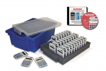 Class Set of 30 Aurora HC133 Basic Calculators